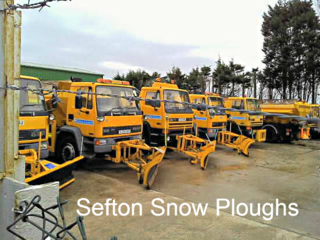 Sefton Snow Ploughs in Formby Depot