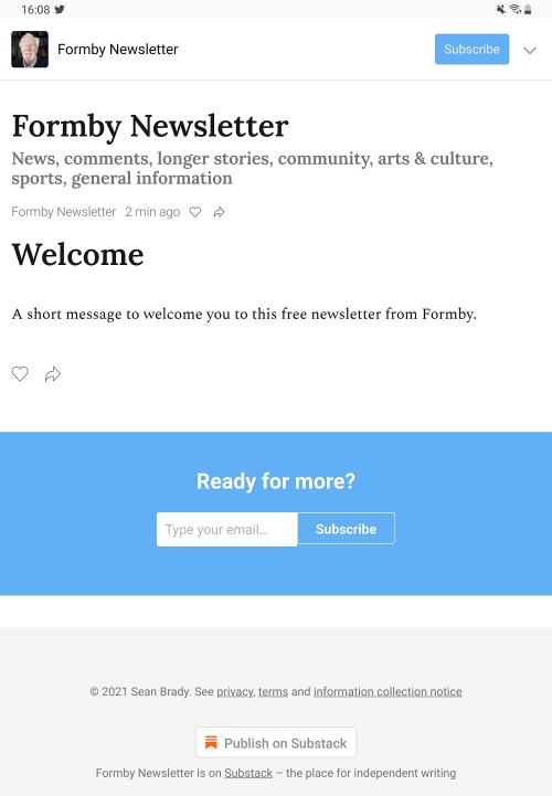 Formby newsletter